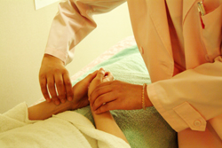 不妊の鍼灸治療・触診
